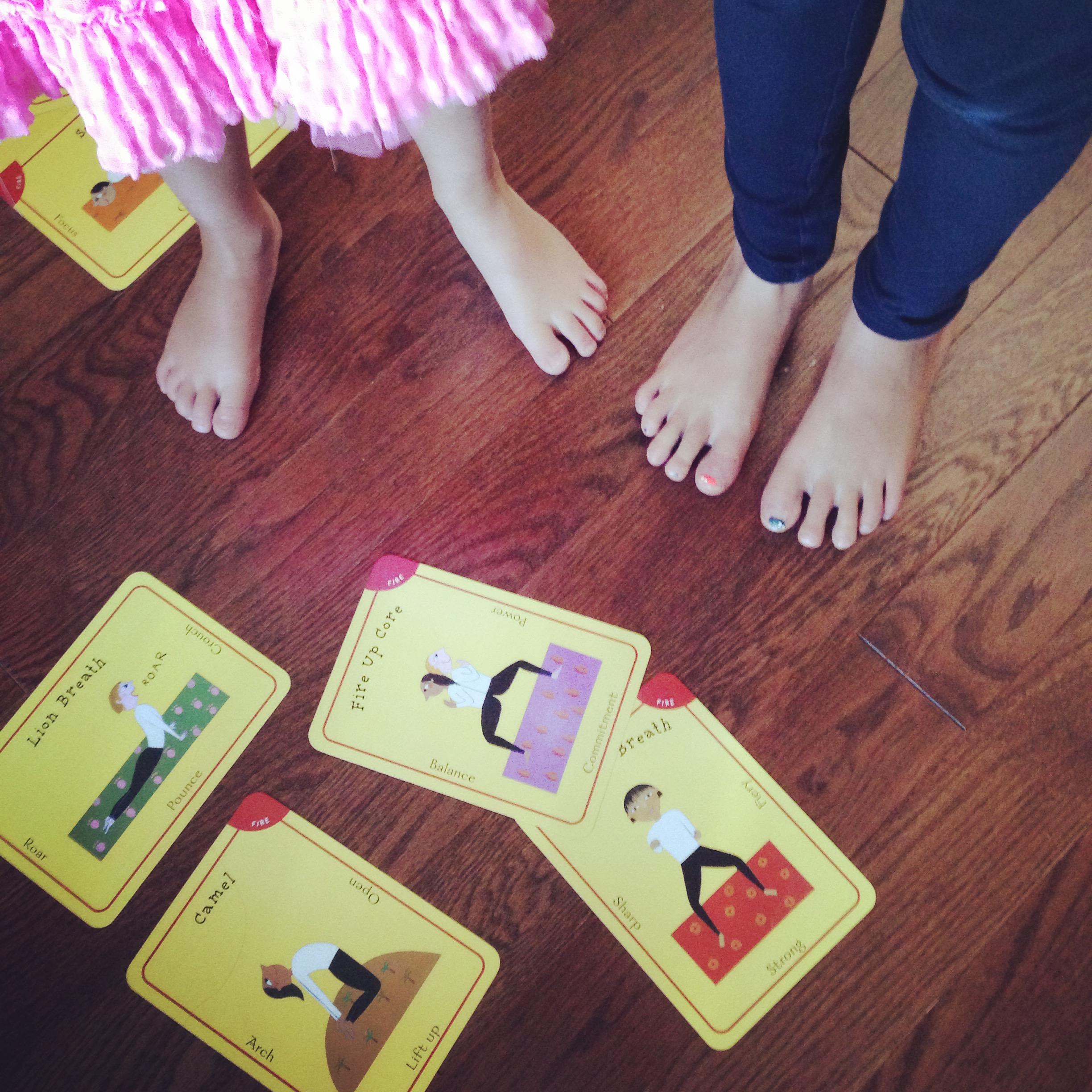 cards and feet